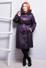 пальто, девушка