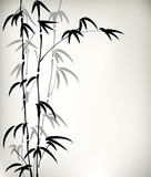 Fototapety ink painted bamboo