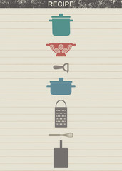 Vintage background for cooking recipes 5