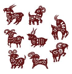 sheep paper cut