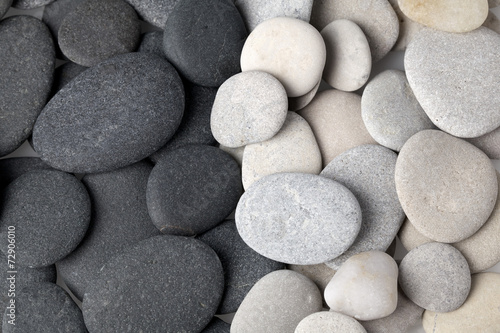 Black and white stones background - 72906010