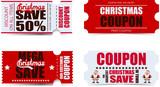 Fototapety Christmas coupons