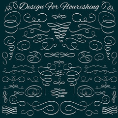 Hand-drawn calligraphic and typographic elements.