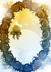 Advent or christmas background