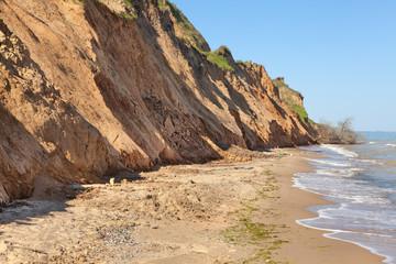 steep seashore