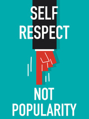 Word SELF RESPECT