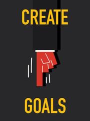 Word CREATE GOALS