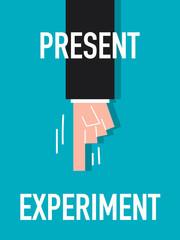 Word PRESENT vector illustration