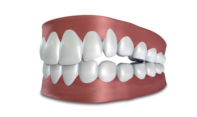 Teeth Set Closed Isolated