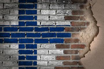 Dark brick wall with plaster - Finland