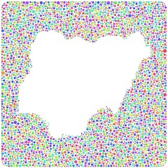 Map of Nigeria - Africa - into a square icon