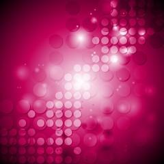Shiny crimson tech background with circles
