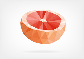 Low Poly Grapefruit
