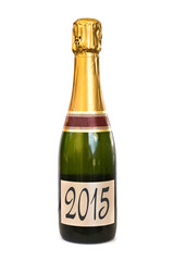 2015 on a label of a bottle of Champagne