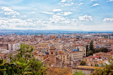 View from height to Granada, Spain