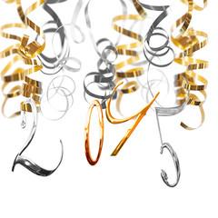 2015 shiny metal numbers hanging serpentine streamers