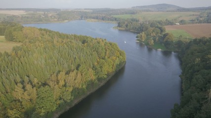 Aerial footage of the river