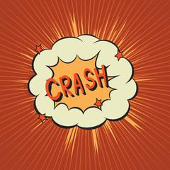 Crash. Comic speech bubble.