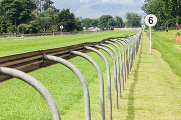 Horse Racing Track Railing Sprint Straight