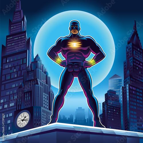 Superhero. Vector illustration on a background - 72911631