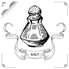 Salt and pepper shakers. salt and pepper pots.