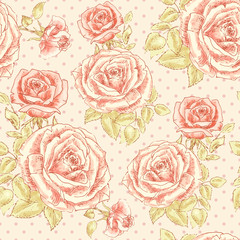 Rose pattern with Polka dot 2