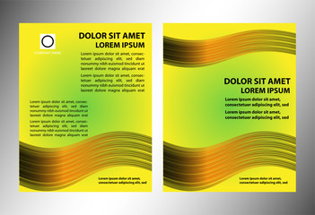 Abstract business brochure yellow vector