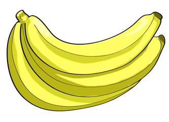 Banana peeled illustration