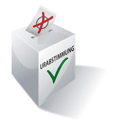 Wahlbox Urabstimmung