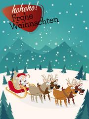 weihnachtskarte weihnachtsmann lustig