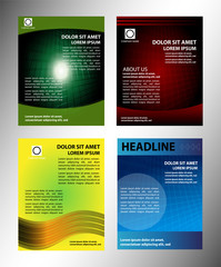 Brochure layout design set