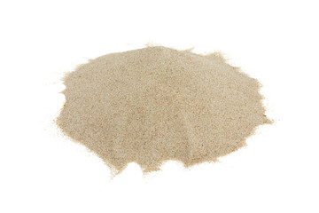 pile of beach sand isolated