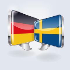 Sprechblasen in deutsch und schwedisch