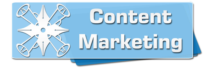 Content Marketing Blue Symbol