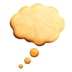 Homemade Biscuit isolated on white background. Balloon shape.