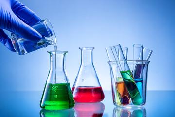 Laboratory equipment, lots of glass