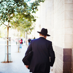 Jewish business man in the street