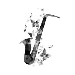 Elegant saxophone design
