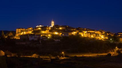 Puebla de Sanabria de noche, Zamora.
