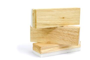 wooden eraser isolated