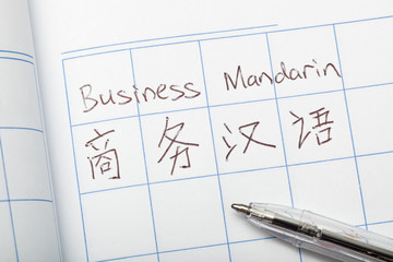 Business Mandarin written in both English and Chinese
