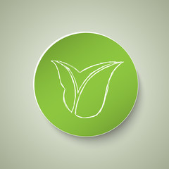 Circle leaf icon