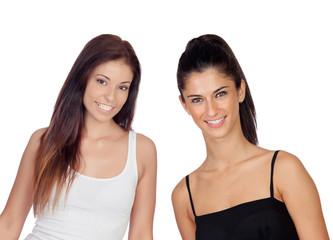 Two pretty girls