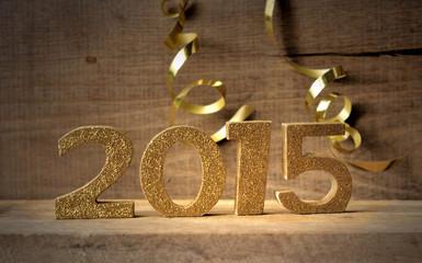 2015 sur fond bois