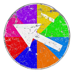 Multicolor Arrow Sign - concept image