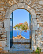 Gate in Palamidi fortress, Nafplio, Greece - 72918437