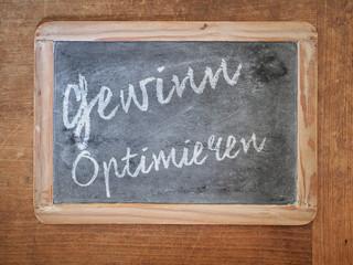 Gewinn optimieren