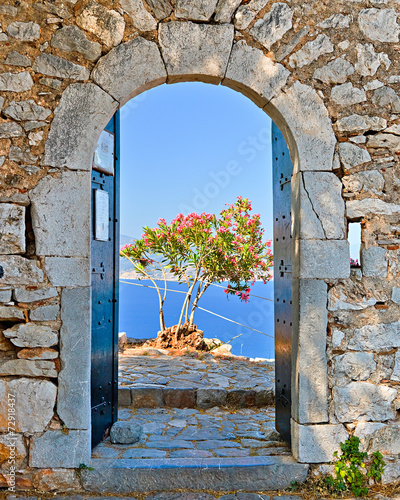 Naklejka Gate in Palamidi fortress, Nafplio, Greece