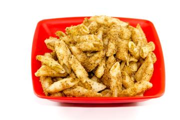Frisch Panierte und gebackene Nudeln