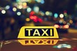 Leinwanddruck Bild - Night taxi